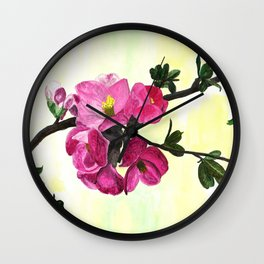 Blossom Spray Wall Clock
