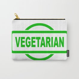 Vegetarian Green Rubber Stamp Carry-All Pouch