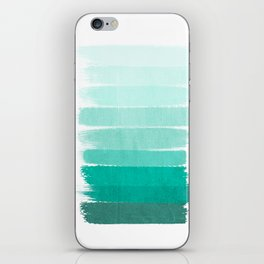 Ombre - Brushstroke Green/Blue Ocean Ombre, girly trend, dorm decor, cell phone, beach, summer,  iPhone Skin