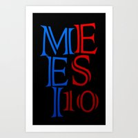 messi Art Prints featuring Messi by Sport_Designs