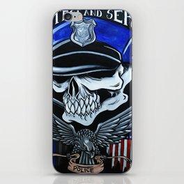 Police Skull iPhone Skin