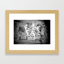 Carved stone mural Mexico City Framed Art Print