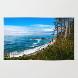 Pacific View - Coastal Scenery in Washington State Rug