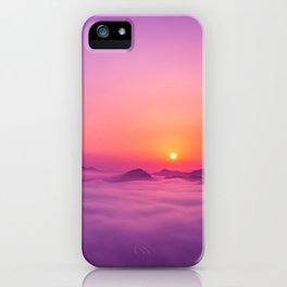 Korean Sunrise over the clouds iPhone Case