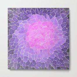 Purple Abstract Metal Print