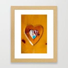 Wooden Hearts Framed Art Print
