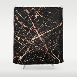 Copper Splatter 091 Shower Curtain