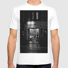 Walking By Guitars Mens Fitted Tee White MEDIUM