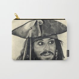 Captain Jack Sparrow ~ Johnny Depp Traditional Portrait Print Carry-All Pouch