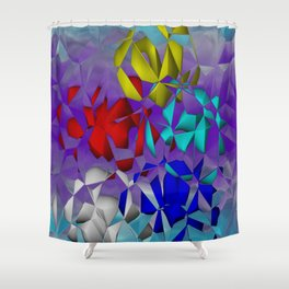 crackled -3- Shower Curtain