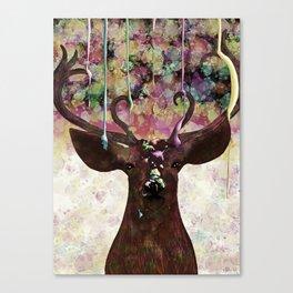 The Painted Deer Canvas Print
