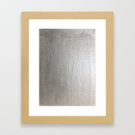 Silver metallic background shimmer Framed Art Print