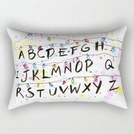 Alphabet Wall Christmas Lights Rectangular Pillow