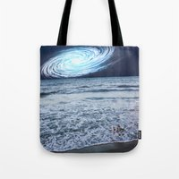 rileigh smirl Tote Bags featuring Galaxy Sky by Rileigh Smirl