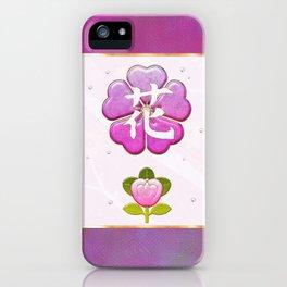 Japanese Flower Jeweled Artwork iPhone Case