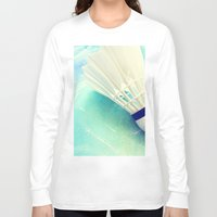 feather Long Sleeve T-shirts featuring Feather by Yilan