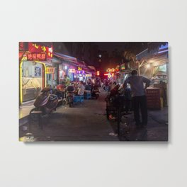 Shanghai Streets Metal Print