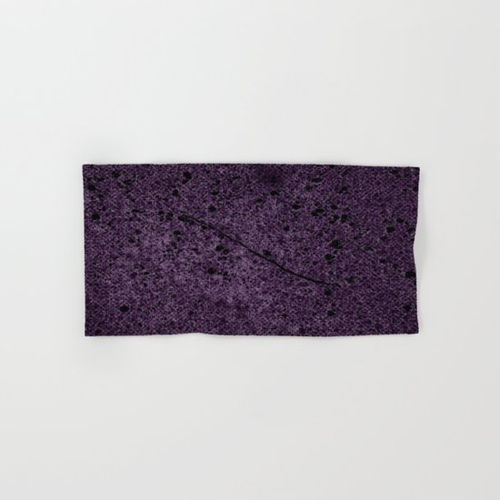 Dark Purple Abstract Hand & Bath Towel