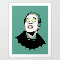 dracula Art Prints featuring DRACULA by DeeDoubleU