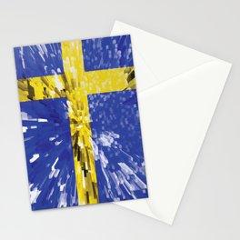 Extruded Flag of Sweden Stationery Cards