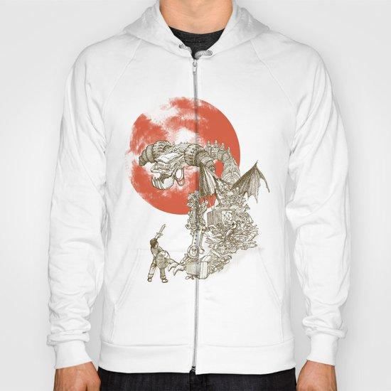 Junkyard Dragon (monochrome version) Hoody