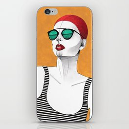 Stripe Swimmer iPhone Skin