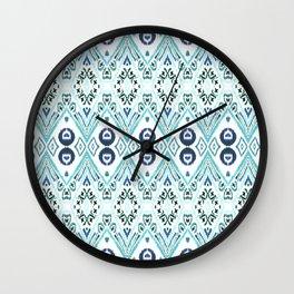 Ikat Java Blue Wall Clock