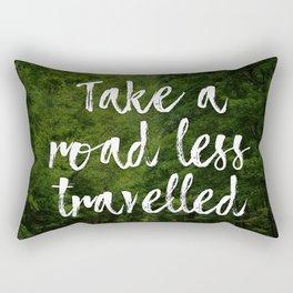 Take a road less travelled Rectangular Pillow