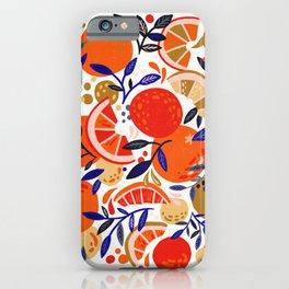 Fresh Citrus Mesh – White iPhone Case