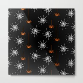 Halloween Spiders Metal Print