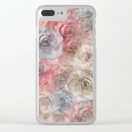 Pastel Delight Clear iPhone Case