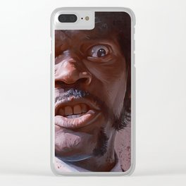 Pulp Fiction Jules Winfield (Great Vengeance) Clear iPhone Case