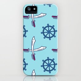 Pirates Elements Pattern  iPhone Case