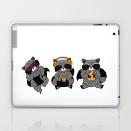 three wise raccoon Laptop & iPad Skin