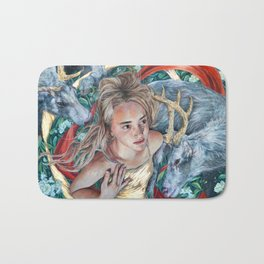 The Awakening, Goddess Artemis with Deer Bath Mat