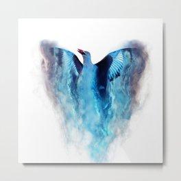 Blue bird in flight Metal Print