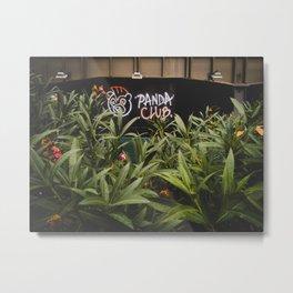 Panda Club Metal Print