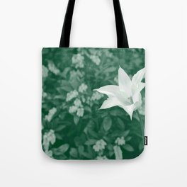 Tulip (green background) Tote Bag