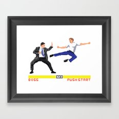 Boss Fight Framed Art Print