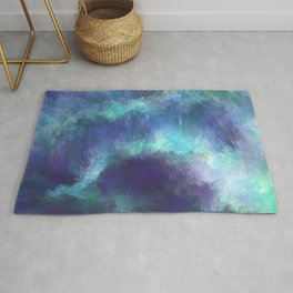 Abstract Space Nebula Storm Clouds Rug