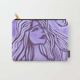 Purple Lotus Turtle Carry-All Pouch