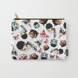 Pop Cats - Pattern on White Carry-All Pouch
