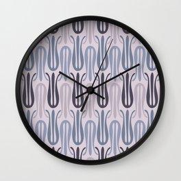 Nouveau Tulips in Purple Wall Clock