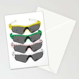 Tour de France Glasses Stationery Cards