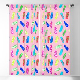 Flip Flops Pattern Pink Blackout Curtain