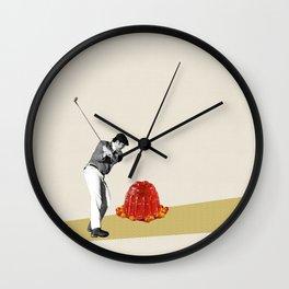 Hit The Jello Wall Clock