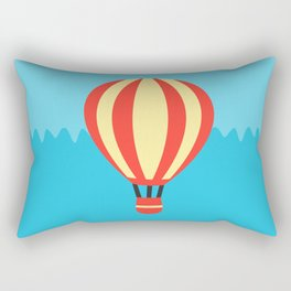 Classic Red and Yellow Hot Air Balloon Rectangular Pillow