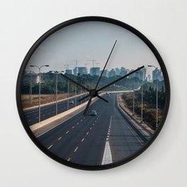 Natanya cityscape in early morning light Wall Clock