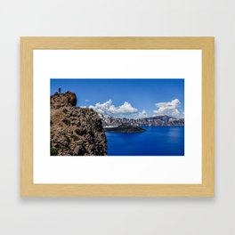 Crater Lake lookout Framed Art Print