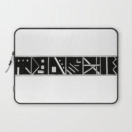 Black and White Blocks Laptop Sleeve